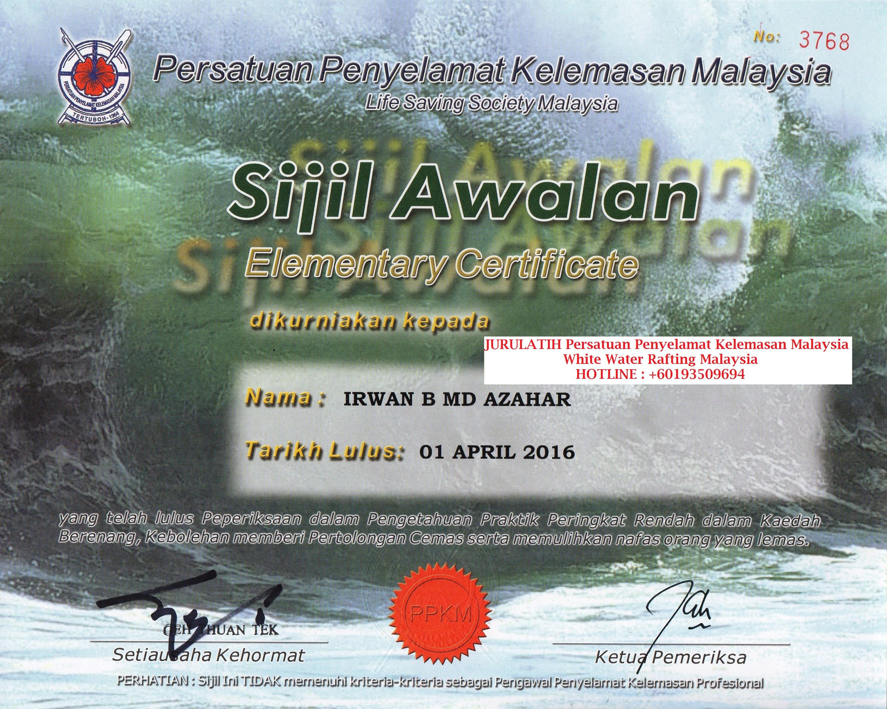ELEMENTARY certified irwan md azahar