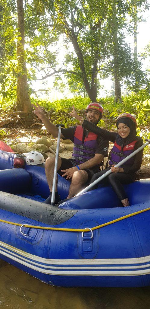 rafting in Gopeng with Hussain Slayem Alameri