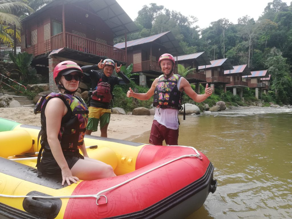 raft mr Gary and Annie Gopeng