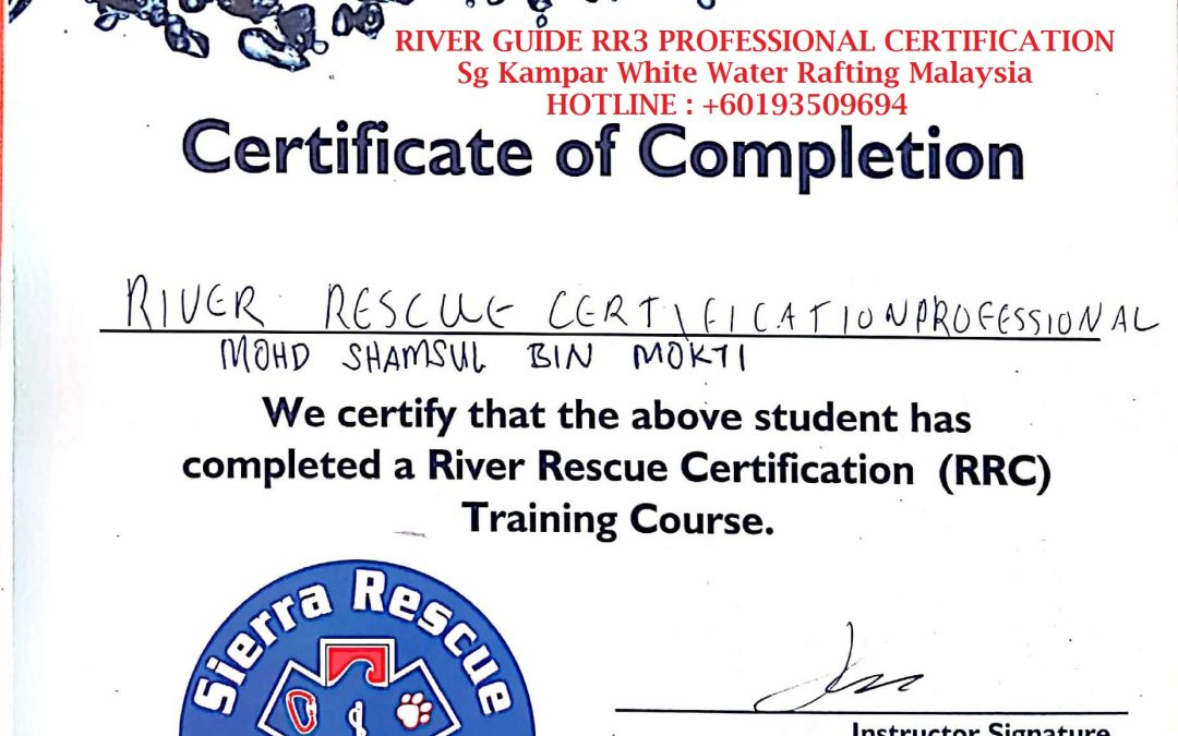 certified RIVER GUIDE