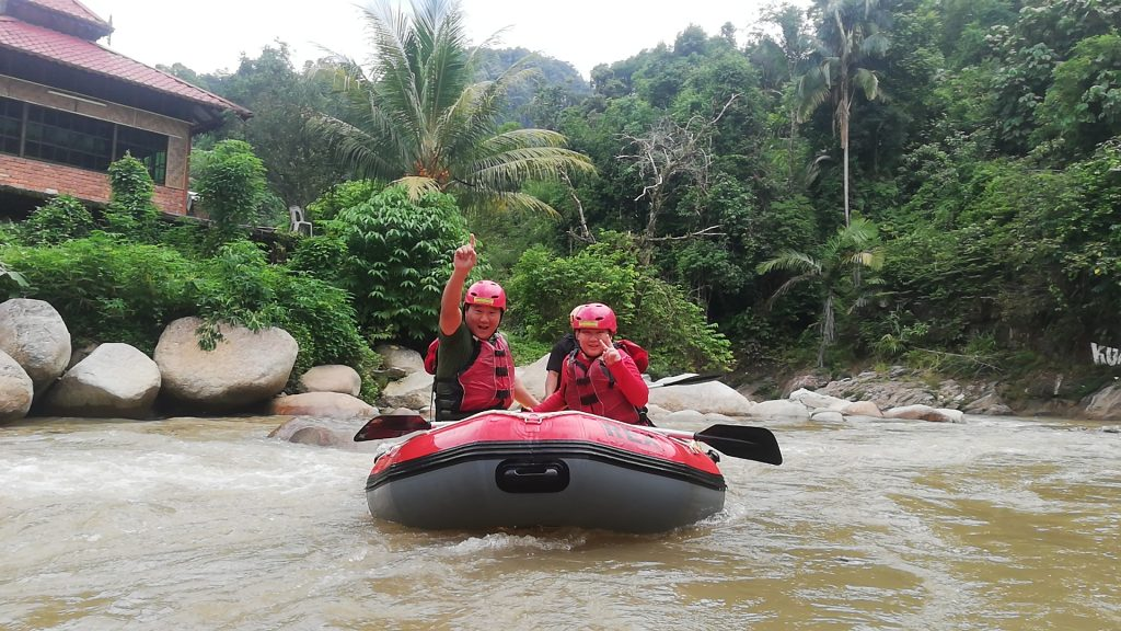 rafting in Ipoh give a best memory for this father Mr ray and his son