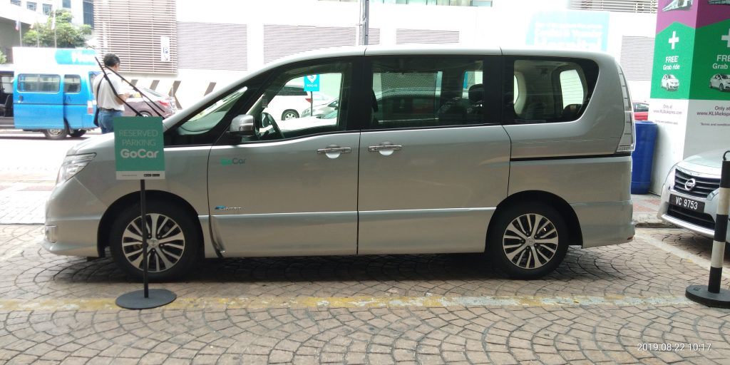 Go Car Nissan Serena Rental KL Sentral Departure Hall