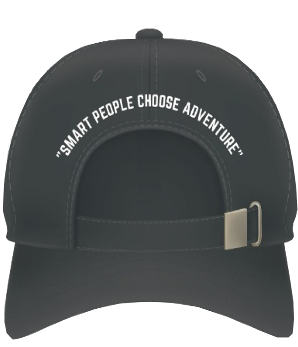 adventure cap at back
