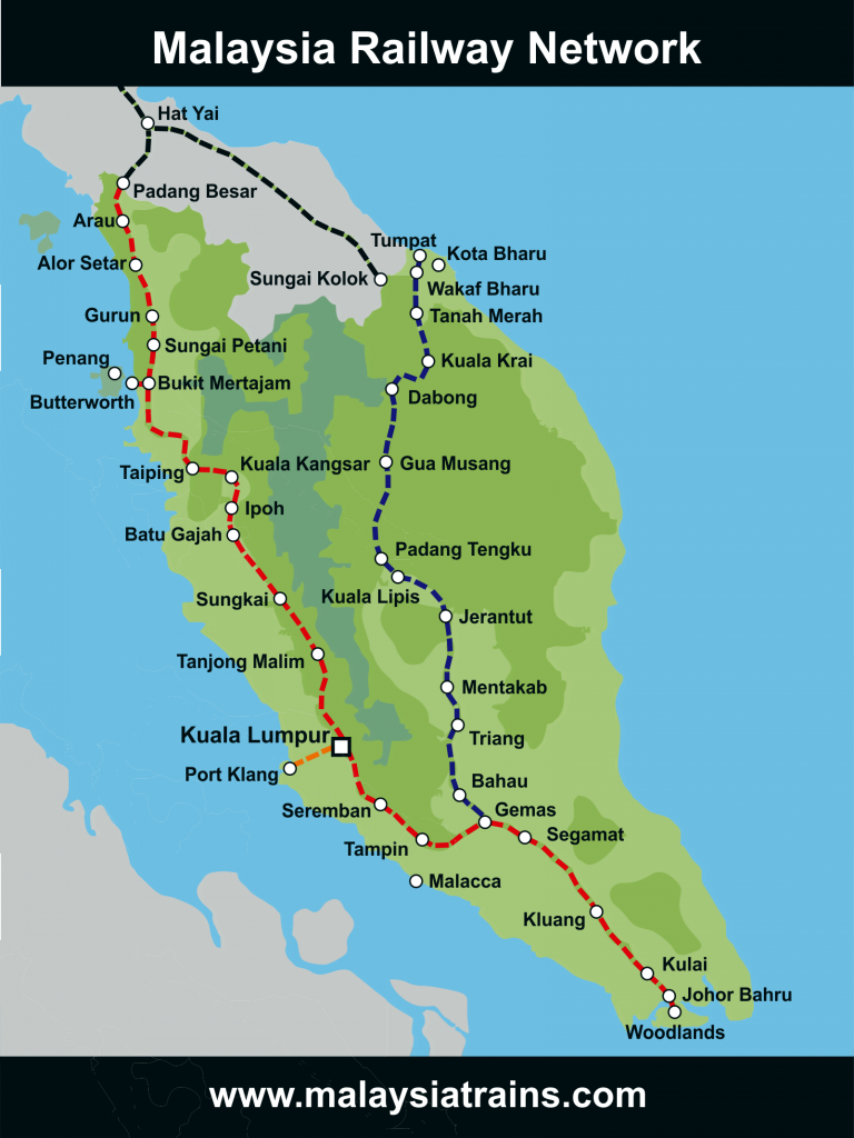 Map of Malaysia Railway Network