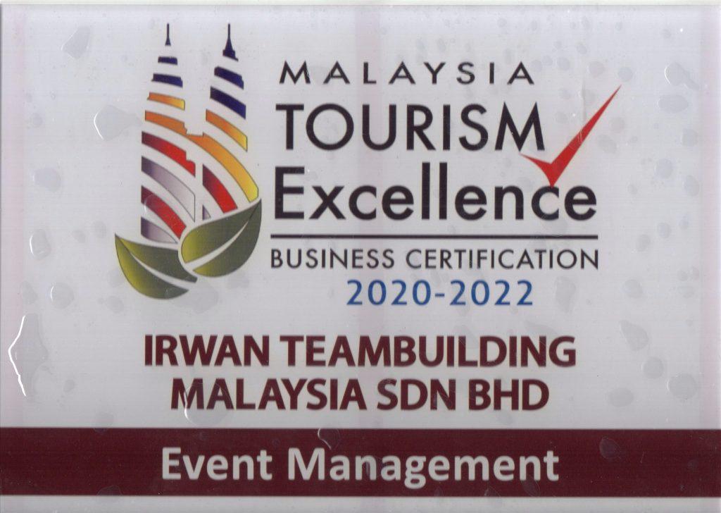 Plague Event Management Business Certification Programme irwan teambuilding malaysia sdn bhd