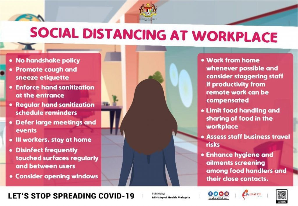 social distance at workplace
