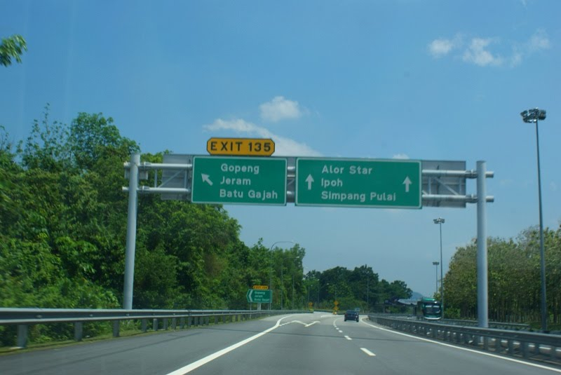 Signage Highway Gopeng Toll Exit Plaza (Exit 135)