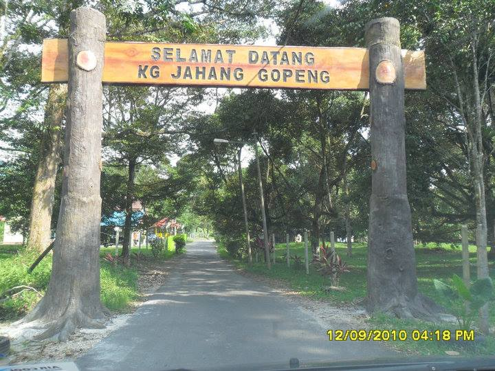 Signage Welcome Kg Jahang Gopeng